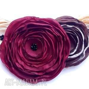 Kwiatowa kolia - naszyjnik z tkaniny, kwiaty, kolia, naszyjnik, biżuteria, kobieta