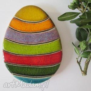 dekoracje pisanka magnes wielkanocny, wielkanocne, ozdoby, magnes, jajko, ceramiczne
