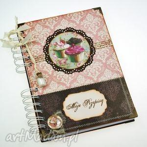 przepiśnik- słodkie babeczki, książka, kucharska, notatnik, kulinarny, przepisy