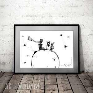 Grafika 143 - inspiracja mały książę i lis maja gajewska
