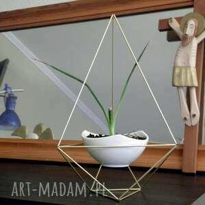 geometryczna doniczka w stylu himmeli - diament, doniczka, geometryczna, diament