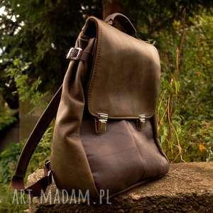 hand-made lilith chimera plecak/torba zgniłozielona skóra