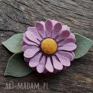 spinka do włosów jesienny kwiat, kwiaty, ozdoby, filcowe, jesienne, spinka