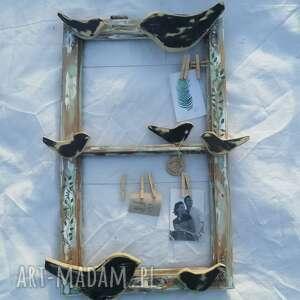 dekoracje przypominacz stare okno z ptakami, okno, memory