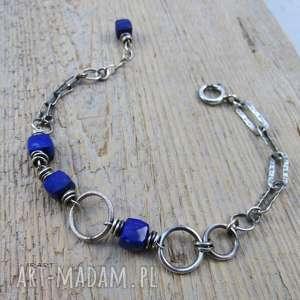 kobieca z lapis lazuli - bransoletka, srebro, lapis