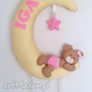 Personalizowana dekoracja dla dziecka, girlanda, filc, pokoik, dziecko, miś,