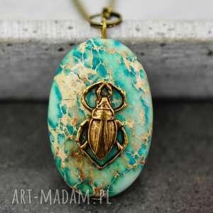 owad naszyjnik półszlachetnym kamieniem - robak, owad, insekt, kamień, turkus