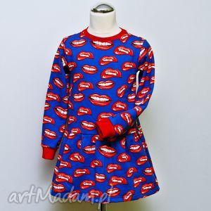 Uśmiechnięta sukienka, uśmiechnięta, kolorowa, dziewczęca, dziecko
