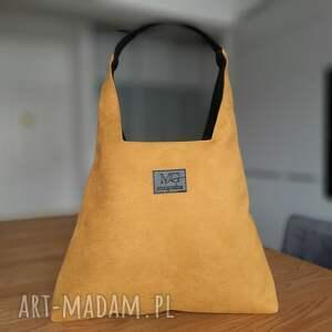 boba xl zip, kolor zółty miodowy musztardowy, duża torba wodoodporna, torebka