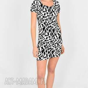 sukienki sukienka pola biało/czarna mini