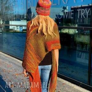 handmade szaliki duża chusta jesień