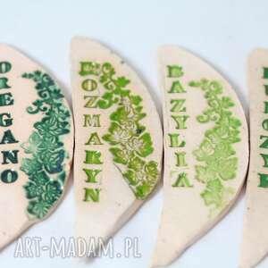 etykiety-znaczniki do oznaczania ziół, zioła, rośliny, ceramika, warzywa