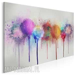 obraz na płótnie - abstrakcja kolory 120x80 cm (66101)