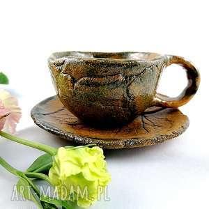 polepione filiżanka ceramiczna, filiżanka, prezent, kawa, talerz, dekoracje