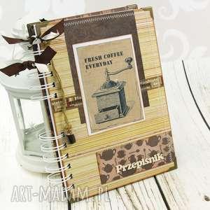 Przepiśnik- rustykalny młynek, notes, przepisy, książka, kucharska, retro, notatnik