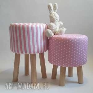 pufy pufa różowe gwiazdki, pufa, taboret, stołek, siedzisko, ryczka