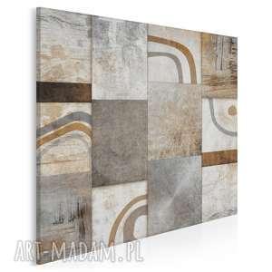 vaku dsgn obraz na płótnie - abstrakcja mozaika brąz w kwadracie 80x80 cm