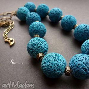 niebieski wulkan - naszyjnik, lawa