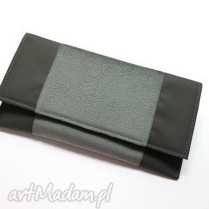 Kopertówka - szara torebki niezwykle elegancka, nowoczesna