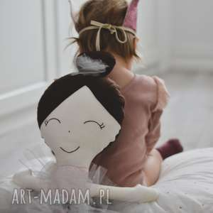 lalki lalka ręcznie robiona melania xl szare dodatki, bawełna, lalka