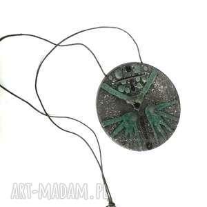 Naszyjnik wisior ceramiczny handmade naszyjniki ruda klara