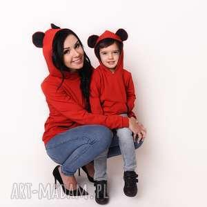 latori - bluza damska z uszami kolekcji mama i syn lm47/1 czerwona