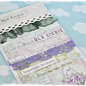 moc życzeń - lawendowa kartka - kartka, urodzinowa, imieniny, życzenia