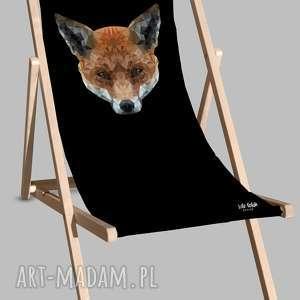 Leżak Black Lis, leżak, plaża, urlop, odpoczynek, leżakplażowy, lis