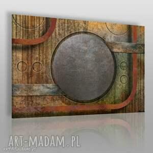Obraz na płótnie - KOŁA INDUSTRIALNY LOFT 120x80 cm (58301), industrialny, loft