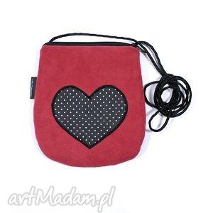 mini minitorebka bordowa z sercem, walentynki, serce, torebka, prezent torebki, pod