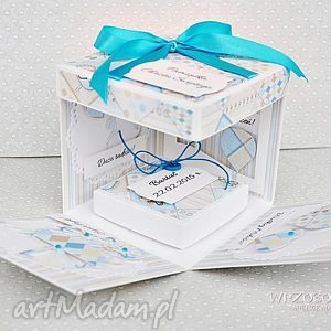 handmade scrapbooking kartki pamiątka chrztu personalizacja