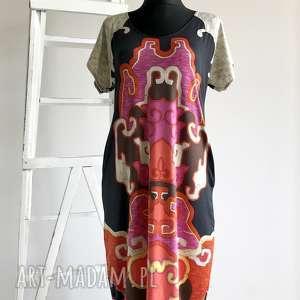 pod choinkę prezent, etno sukienka, boho sukienka folk, lejąca
