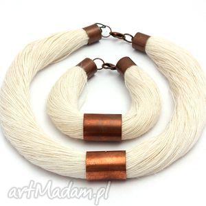 ręcznie wykonane naszyjniki len minimalistycznie