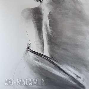 woman, duża-grafika, kobieta-obraz, czarno-biały-akt, rysunek-węglem