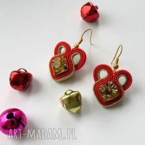 pomysł na upominek Christmas Collection IV - kolczyki sutasz mini, święta, prezent