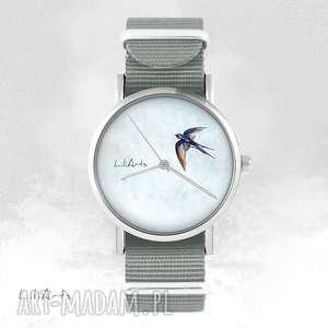 zegarki zegarek, bransoletka - jaskółka szary, nato, bransoletka, nato