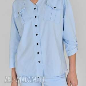 koszula gaja bawełniana niebieska, koszula, dres, kamizelka, t shirt, kombinezon
