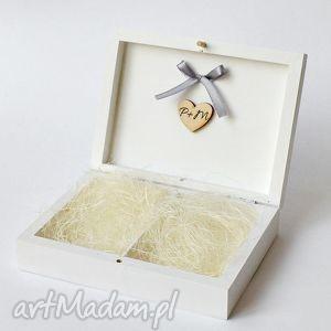 Pudełko na obrączki ślubne, pudełkanaobrączki, naturalne, ślub, klasyczne, wesele