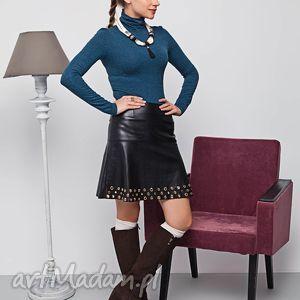 spódnica z eko-skóry na podszewce, spódnica, młodzieżowe spódnice