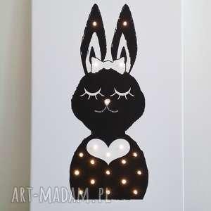 pokoik dziecka świecący obraz pani królik prezent lampa dziecko, obraz