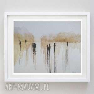 abstrakcja - akwarela formatu 12,5/18 cm, abstrakcja, postacie, akwarela