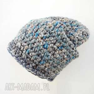 czapka hand made no 023 beanie szydło - ciepła, szydełko, krasnal