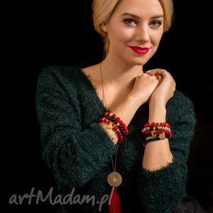 christmas - aurora red & black - święta, jadeit, zestaw, agat