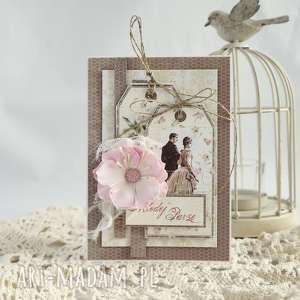 Kartka ślubna - ,kartka-ślubna,młodej-parze,ślub,kartka,scrapbooking,