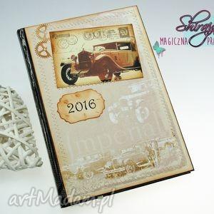 kalendarz 2016- męskie sprawy, kalendarz, książowy, 2016, retro, samochód, auto
