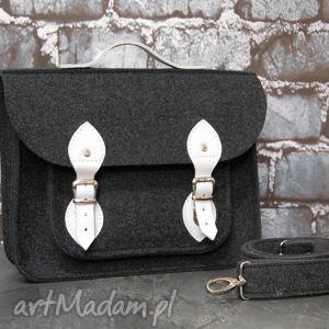 filcowa torba na laptopa 15 ze skórzanym wykończeniem, laptop, skóra, prezent