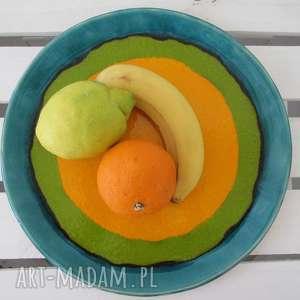 ceramika dekoracyjny cytrusowy talerz, kolorowy, dekoracyjny, ceramiczny