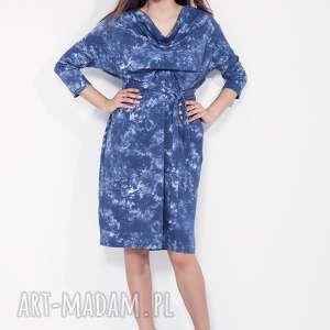 Luźna marmurkowa sukienka oversize, oversize