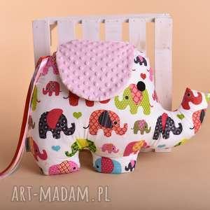 Poduszka dziecięca słoń, słoń-maskotka, słoń-poduszka, poduszka-dekoracyjna