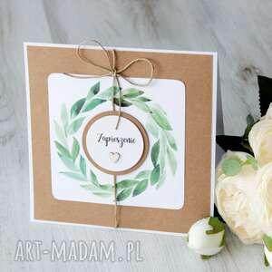 zaproszenie na ślub rustykalny po godzinach - zaproszenia, chrzest
